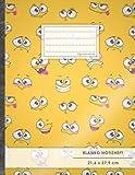 Blanko Notizbuch ? A4-Format, 100+ Seiten, Soft Cover, Register, ?Emoji Bilder? ? Original #GoodMemos Blank Notebook ? P