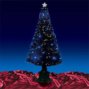 Christmas Tree Gorgeous 6ft 180cm Black Fibre Optic Leds