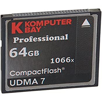 Carte Komputerbay 64GB Professional Compact Flash CF 1066X écrire 155 Mo/s en lecture 160 Mo/s Extreme Speed UDMA 7 RAW