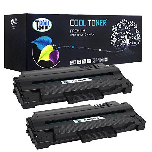 Preisvergleich Produktbild Cool Toner kompatibel Toner fuer MLT-D1052L fuer Samsung ML-1910 1911 1915 2525 2545 2525W 2526 2580N 2581N 2540R, SCX-4600 4601 4623F 4623FW, SF-650 650P 651P, 2500 Seiten, 2-Packung,Schwarz