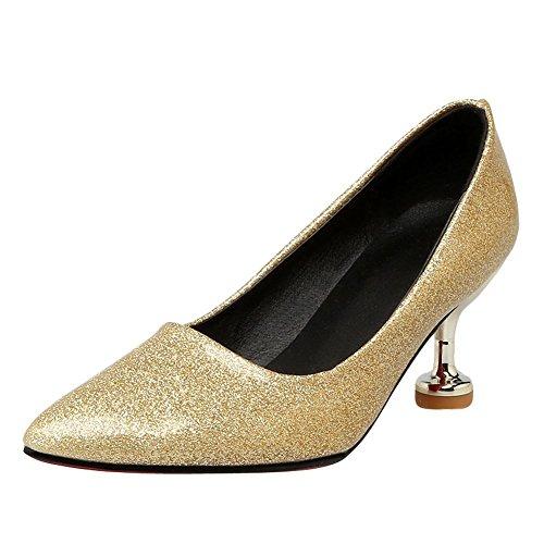 MissSaSa Donna Scarpe col Tacco Nuovo Moda Sottile Oro