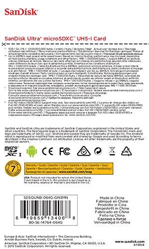 Ansicht vergrößern: SanDisk Ultra microSDXC 64GB bis zu 48MB/Sek, Class 10 Speicherkarte