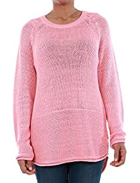 Vero Moda Pullover Women Long Sleeve Pink 10192178 VMKAKI LS O-Neck Blouse Strawberry Ice