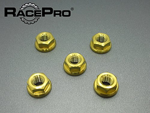 RacePro - MV Later Model of F4 & Brutale All Years -x5 Ti Sprocket Nuts Or.