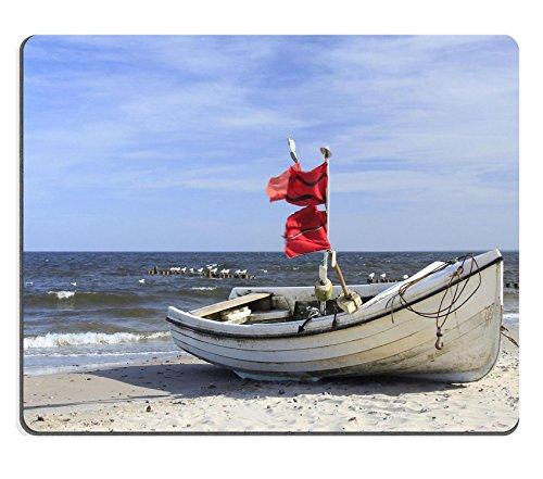 Preisvergleich Produktbild Liili Mauspad Naturkautschuk Mousepad Bild-ID: 15056332Angeln Boot, Auf der Strand von der Insel Usedom Ostsee Deutschland