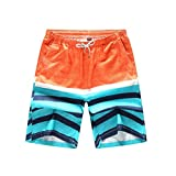 TTD Herren Druck Quick Dry Beach Boardshorts Badehose Plus Größe