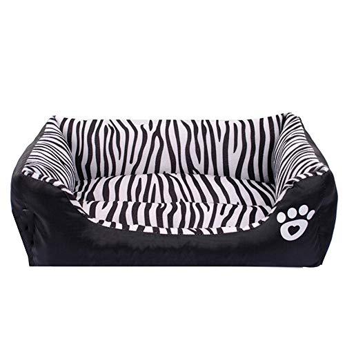 FITIN Mascota Nido Perro Cama Gato Zebra patrón Prueba