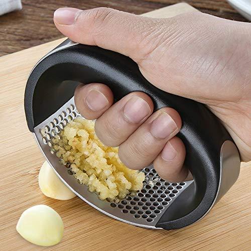 Gaddrt Multifunktions-Knoblauchpresse aus Edelstahl, für Küchenhelfer