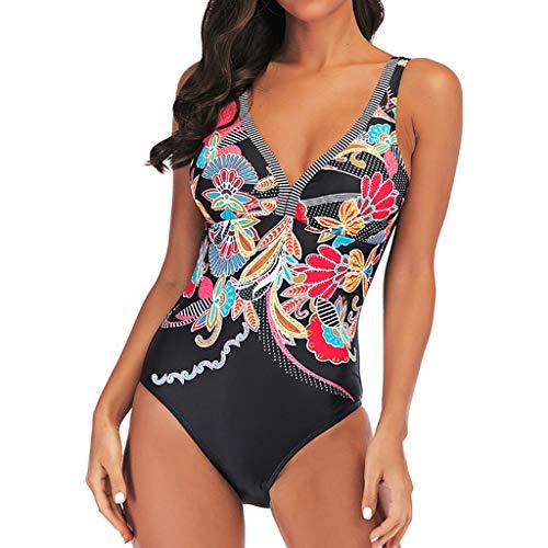 4a9fff9fcdcc Monokini Costumi Interi Donna, Swimming Pin Up Costume Floreale Contenitivi  One Piece Costumi da Bagno
