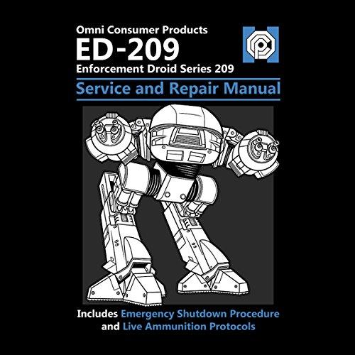 RoboCop ED209 Service And Repair Manual Women's T-Shirt Black