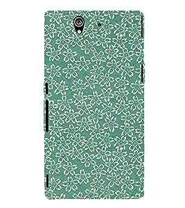 Floral Design 3D Hard Polycarbonate Designer Back Case Cover for Sony Xperia Z :: Sony Xperia Z L36h