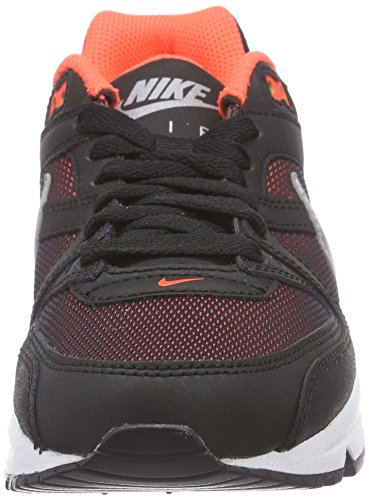 Nike Unisex-Kinder Air Max Command (Gs) Low-Top Schwarz (Black/Metallic Silver-Total Crimson 067)