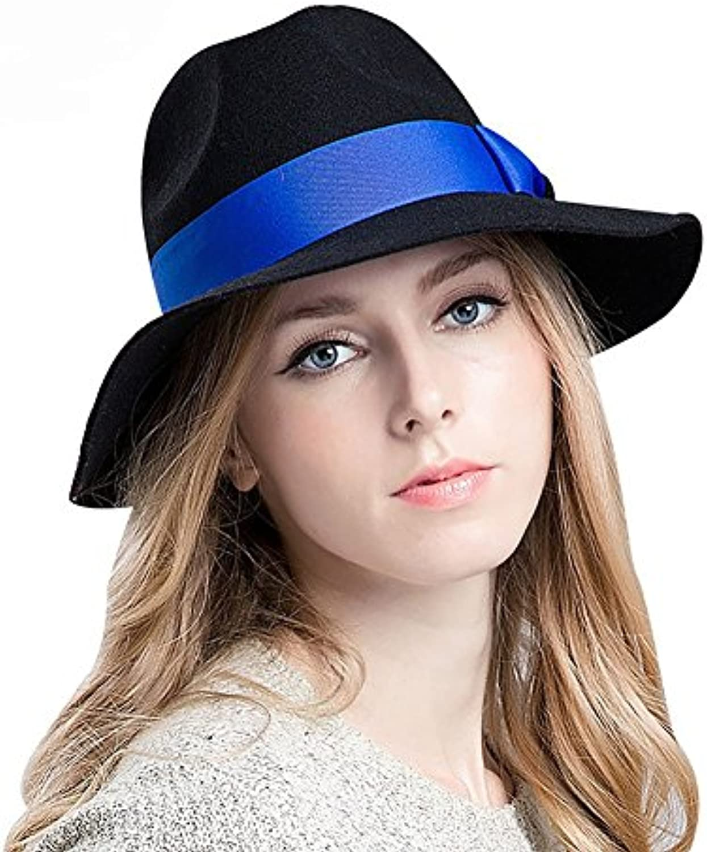 LongYu Cappelli da Classic Donna per Le Donne Classic da Elegante Cappello  a Cloche in Feltro Fedora Cappello a Tesa Larga... Parent b62b0f b341017d4a80