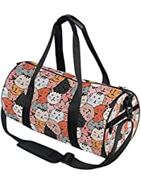 4543789de1a2 jeansame Cute Cartoon Cats Animals Vintage Gym Bag Travel Sports Duffel Bags  Tote Holdall Bag for Women Men…
