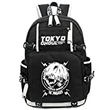 Yoyoshome, zaino per la scuola con disegno anime, fosforescente di notte nero Tokyo Ghoul