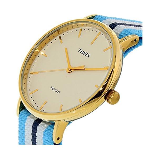 Timex Reloj Analogico para Mujer de Cuarzo con Correa en Tela TW2P91000