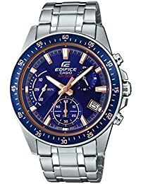 Casio Men's Edifice EFV540D-2AV Silver Stainless-Steel Japanese Quartz Sport Watch
