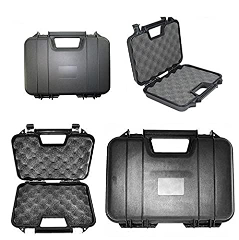 Airsoft Pistol Case Safe And Secure Airsoft Hard Carrying Case (31.5CM) HTUK® (Black)
