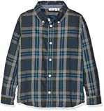 NAME IT Jungen Hemd NITILIAS LS Shirt Mini, Mehrfarbig (Kombu Green), 110