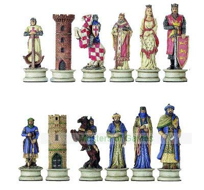 Italfama Crusaders v. Saracens Resin Chess Set