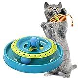 Splink Katzen Intelligenz Spielzeug Kreisel mit Ball interaktive Katze Maus