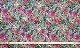 Jersey 50 cm Baumwolljersey Disney Arielle Blumen grün