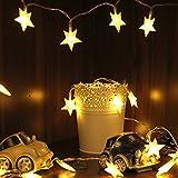 Lichterkette Sterne, von myCozyLite, LED Lichterkette mit Batterie, 40 Warmweiße Sternen, Blinken, 5m