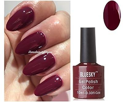 Bluesky 80557 Tinted Love Burgundy Red Maroon Nail Gel Polish UV LED Soak Off 10ml PLUS 2 Luvlinail Shine Wipes