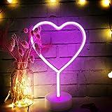 Luz de neón con base de soporte USB y batería alimentada lámpara de mesa para verano fiesta cumpleaños dormitorio mesita de noche decoración niños niños regalos
