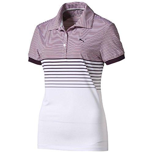 Puma Women's Golf Sport W Double Stripe Polo Shirt Dry Cell, Größe Bekleidung:S