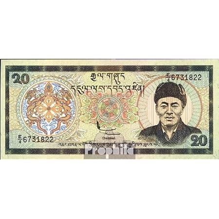 Bhutan Pick-Nr: 23 bankfrisch 2000 20 Ngultrum (Banknoten für Sammler)