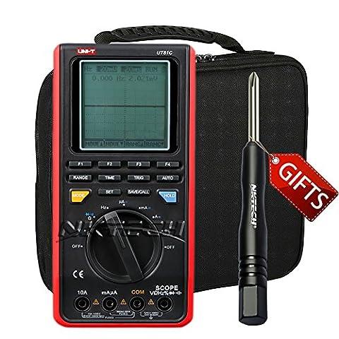 Nktech Uni-T Ut81C Digital Oscilloscope Multimeters AC DC V/A résistance Capacitance fréquence 16MHz Bande passante 80MS/S Taux d'échantillonnage Auto Gamme testeur + Tournevis Tl-1