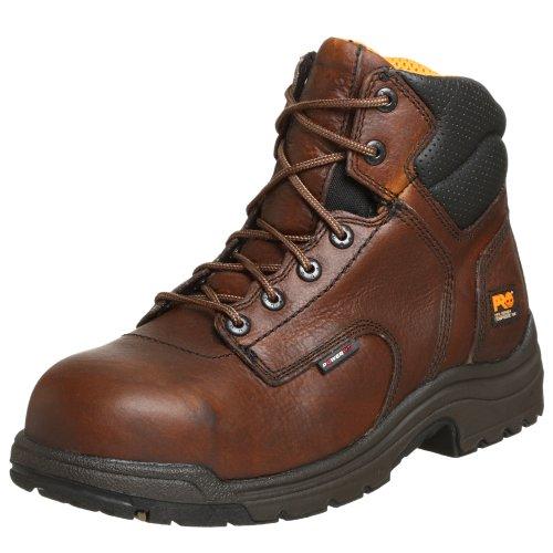 Timberland Pro - Herren 6 in Titan Ct Schuh, 45 EU, Brown W/Green Comp Toe Boot