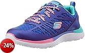 Skechers 816969L/BLNP Sneakers Bambina Pelle/tessuto Blu Blu 34