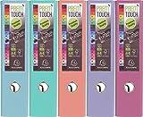 Exacompta 53307E Ordner (PP, 2 Ringe, Rücken 80 mm, DIN A4) 5 Stück in ausgewählten Pastellfarben [ himmelblau türkis lachs flieder fuchsia ]