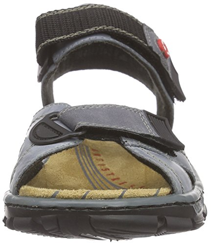 Rieker68851 Women Open Toe - Sandali a Punta Aperta Donna Blu (Whitedenim/jeans / 12)