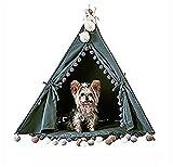 MEIQI Pet Teepee Dog (Puppy) & Lit Pour Chat - Tentes Pour Animaux De Compagnie Et Maisons Pour Chiens (Chiots) Et Chats
