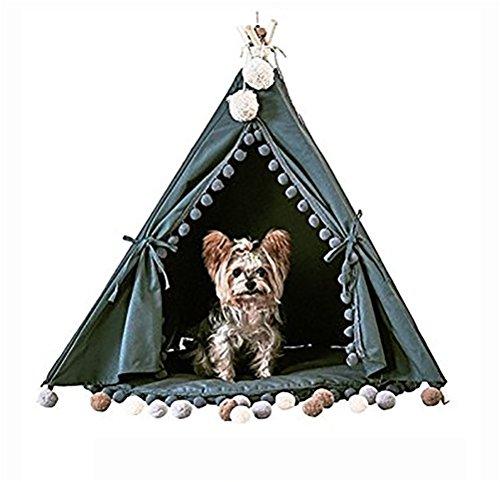 MEIQI Haustier-Tipi-Hund (Welpe) U. Katzen-Bett - Portable Haustier-Zelte U. Häuser Für Hund (Welpe) U. Katze -