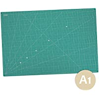 MAXKO tapis de coupe 90 x 60 cm, auto-guérison, division métrique/tapis de coupe/pad de bureau / A1 / 90x60 / dimensions angulaires 15°