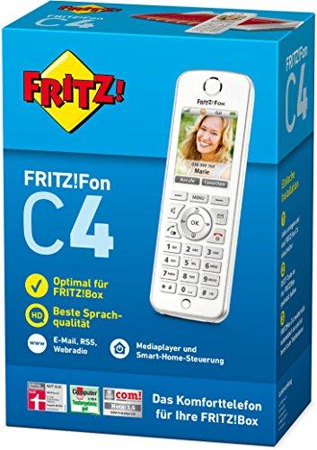 AVM FRITZ!Fon C4 Telefon (Farbdisplay, beleuchtete Tastatur) weiß, deutschsprachige Version - 3