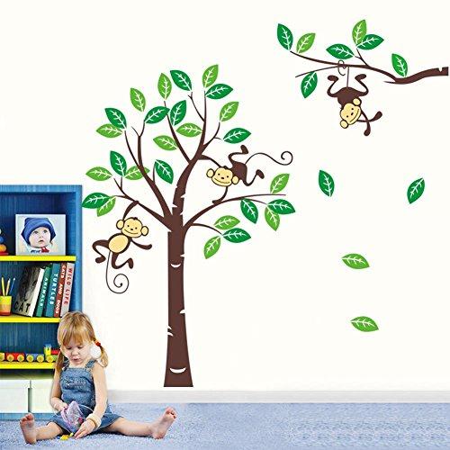 Wandtattoo ZooYoo Affe Wand Sticker Dschungel Kinderzimmer Baby Affen XXL(5)