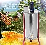 TUDIO Honigschleuder Elektrisch 2/3-Waben Lebensmittelechter Edelstahl Elektrisch Honig-Extraktor für Bienenzucht Bee Einklang mit Cover für Anfänger Bienenzüchter Zubehör,Y02D