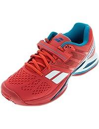 Babolat 30s1302pour homme V-Pro 2Clay M Whitet/rouge Chaussures de tennis - Multicolore - Whitet/Red ZsnYnmL,