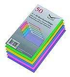50 farbige Briefumschlaege Din lang haftklebend