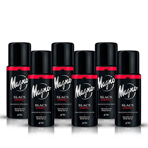 Magno desodorante black - 150 ml (pack de 6) Total: 900 ml