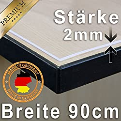 Table Cover/Protector 2Ã' mm Clear 90cm Wide Length can be Selected, Plastic, Various colours, 180 x 90 cm by ANRO
