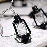 XCXDX LED-Mini-Schwarze Laterne Fee Licht Hängenden String Licht Warmen Weißen Wohnkultur