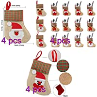 Boheng (4 por Estilo Fashion Warm Colorful Christmas Sock Knife and Fork Set 12PCS