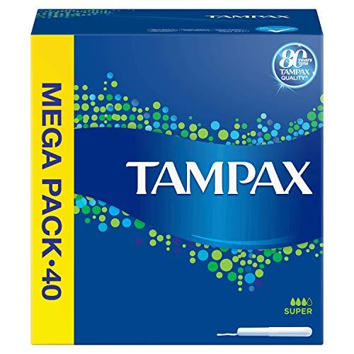 Tampax Super Tampones con Aplicador de Cartón