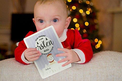 Baby Milestone Cards DEUTSCH - Meilenstein karten - 40 unisex Fotokarten - Geschenkset – Babyparty - Erstes Lebensjahr - 6